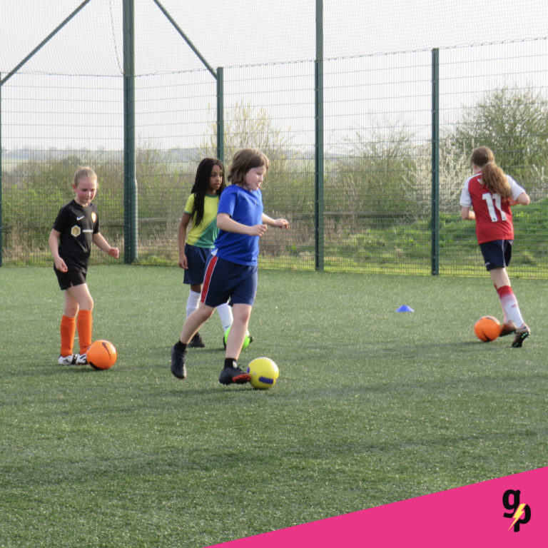 Elite girls football session in Rugby