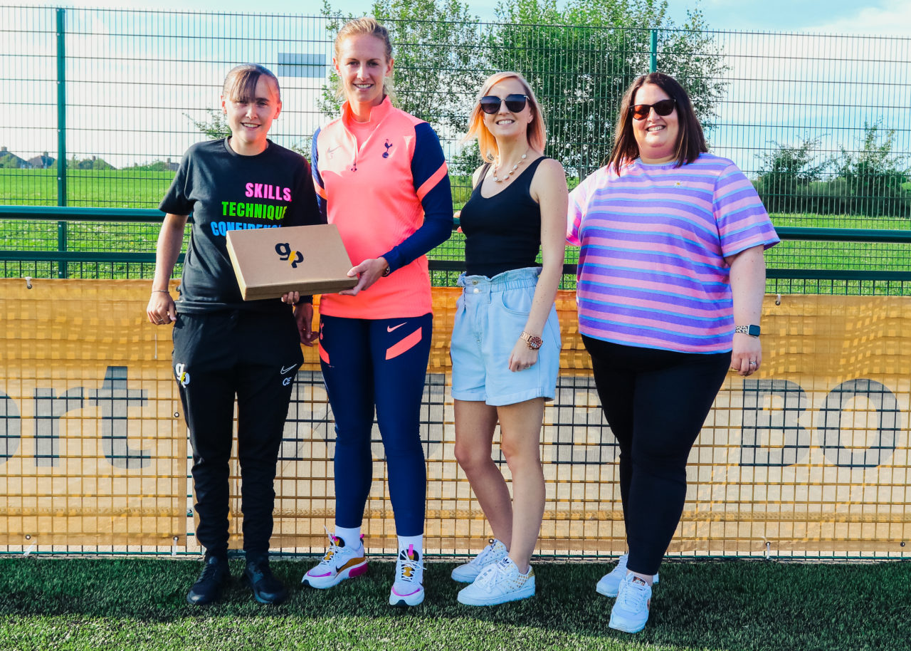 WSL player visits Goal Power players | Goal Power Coaching